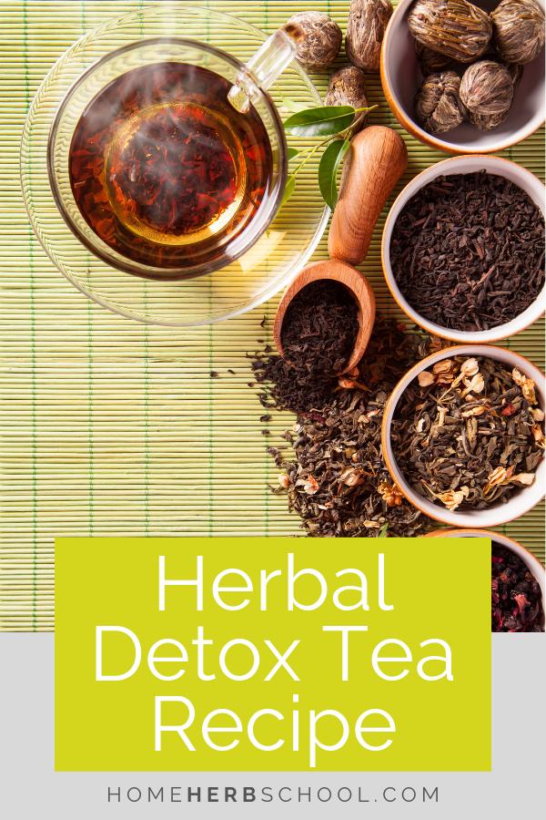 This herbal detox tea recipe includes some of the most delicious herbal medicine ingredients. This herbalism remedy is quite effective. #Herbalism #HerbalMedicine #DetoxTea