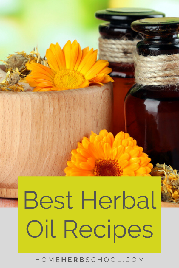 Discover how easy it is to make these herbal infused oil recipes. Use them for a variety of uses such as pain, muscle tension, swollen lymph, burns, bruises as well as cuts and wounds. This beneficial herbal medicine should be a part of your home herbal first aid kit. #Herbalism #HerbalismCoursesOnline