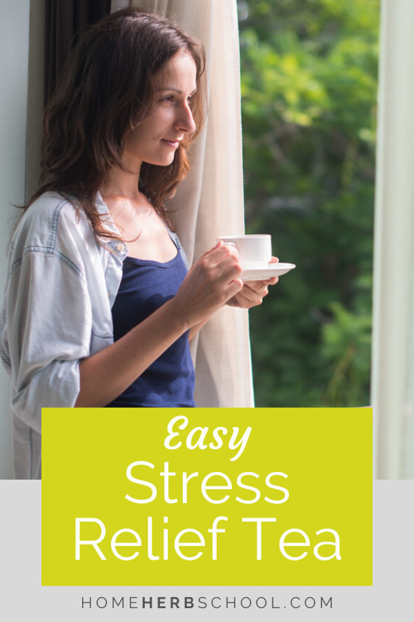 This easy DIY stress relief tea not only tastes great but is very effective at calming nerves. Some of the most natural and gentle herbs used in herbalism help us to cope and bring us back into balance. This is herbal medicine at it's best.